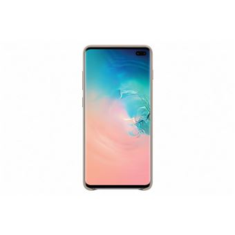 Samsung Galaxy S10 Plus Cover Cuire Gris