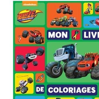 Coloriage Flash Macuine Gratuit.Blaze Et Les Monster Machines Blaze Mon Livre De Coloriages