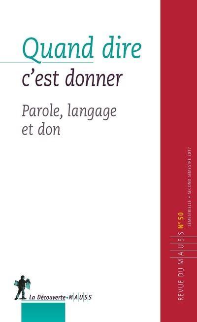 Parole donnée, don et langage