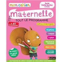 Mon cahier maternelle Toute Petite Section 2-3 ans
