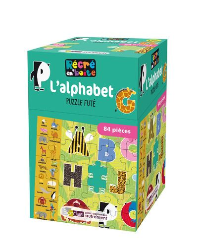 Récré en'Boîte L'alphabet Puzzle futé 84 pièces dès 4 ans