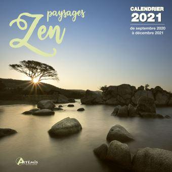 Calendrier Paysages Zen 2021   broché   Collectif, Livre tous les