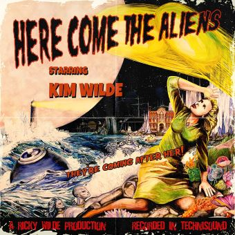 Here Come The Aliens Coffret Inclus un Vinyle, un canevas et un autre goodie