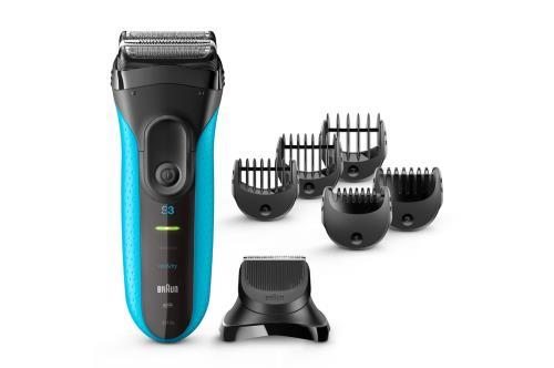 Rasoir électrique Braun Série 3 Shave & Style Wet & Dry 3010BT Noir et Bleu