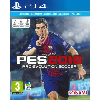 pes 2018 edition premium day one ps4 jeux vid o achat prix fnac. Black Bedroom Furniture Sets. Home Design Ideas