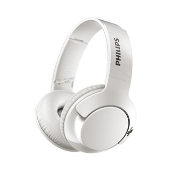 casque bluetooth philips bass shb3175 blanc casque. Black Bedroom Furniture Sets. Home Design Ideas