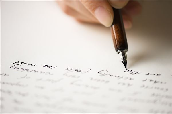 Escrita à mão