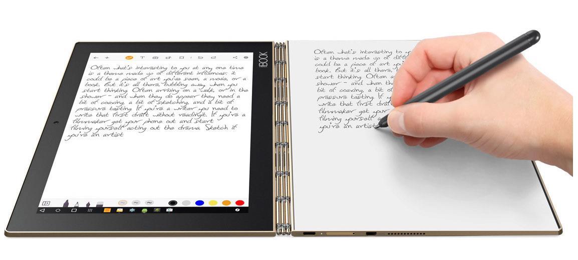 Um toque de criatividade com o Lenovo YOGA Book