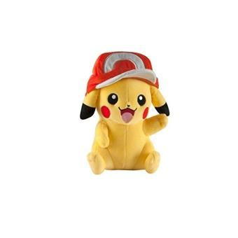 Peluche-Pokemon-Pikachu-Casquette-27cm