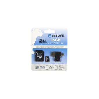 cartão de memória eSTUFF 16GB MicroSD 16GB MicroSD Class 10  Preto