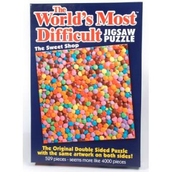 World's Most Difficult Jigsaw Puzzle Sweet Shop 529 Pieces 6220 Paul Lamond Games