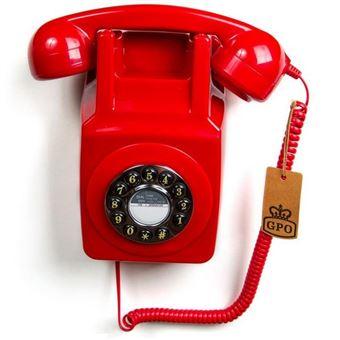 telefone GPO Retro 746  analógico Vermelho