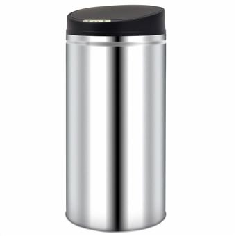 Caixote de Lixo com Sensor vidaXL automático 52 L aço inoxidável