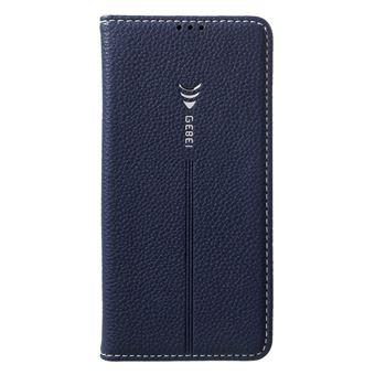 Capa Magunivers PU ranhuras para cartões de lithi azul escuro para Samsung Galaxy S10