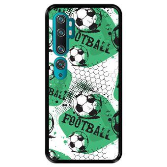 Capa Tpu Hapdey para Xiaomi Mi Note 10 - Note 10 Pro - Cc9 Pro | Design Padrão de Futebol 1 - Preto
