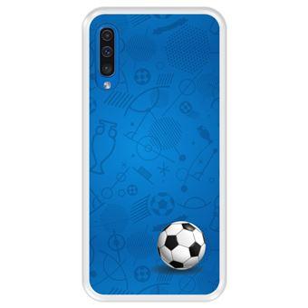 Capa Tpu Hapdey para Samsung Galaxy A50 2019 | Design Padrão de Esportes com Bola de Futebol - Transparente