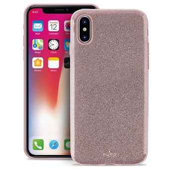 "Capa Puro Shine iPhone X 5.8""""' Rose Gold"