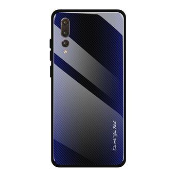 Capa Magunivers de TPU Borda Gradiente Flexível Roxo para Huawei P20 Pro