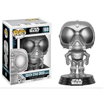 Funko Pop! Star Wars Rogue One - Death Star Droid White Chrome Exclu Pop 10cm