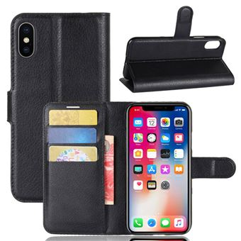 Capa Carteira Tipo Livro Wallet Multi4you para Apple iPhone X - Preto