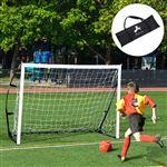 Baliza de Futebol Portátil para Crianças e Adultos HOMCOM com Estrutura de Aço e Bolsa de Transporte - 183x50x122cm