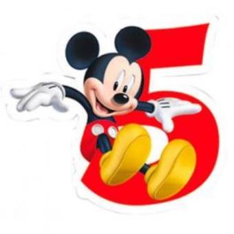 vela de aniversário número 5 mickey disney playful artigos para