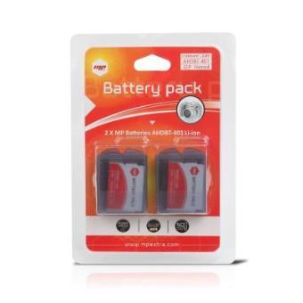 Bateria de Lítio MP Extra para GoPro HERO 4 2 unid