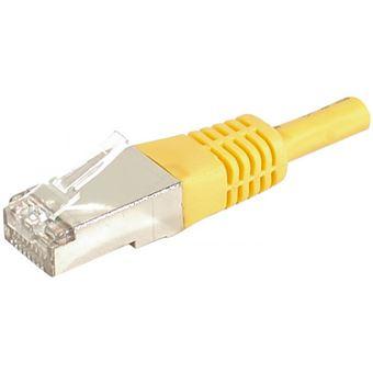 cabo de rede Dexlan 859561  0,3 m Cat6a F/UTP (FTP) Amarelo