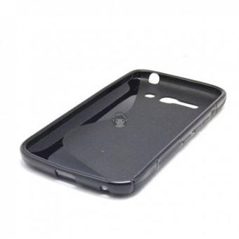 Capa Lmobile em Gel S-Line Wave para Alcatel Touch Pop C9 Preto
