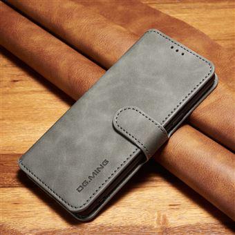 Capa PU Estilo Cinzento para Samsung Galaxy S9