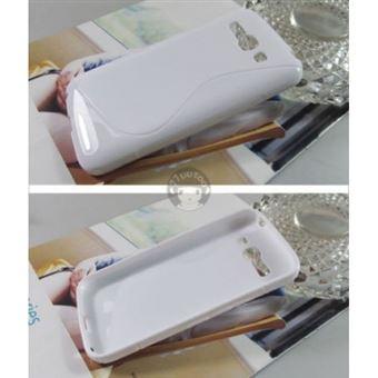 Capa Lmobile em Gel S-Line Wave para Alcatel Touch Pop C9 Branco