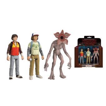 Figura Stranger Things - 3 Pack Will, Dustin e Demogorgon 8cm