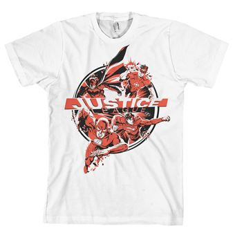 T-shirt Justice League Heroes   Branco   L