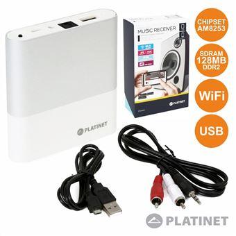 Receptor Áudio Div Wi-Fi com USB e Aux Dlna/Airplay Platinet