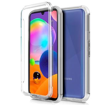 Capa Cool 360 para Samsung Galaxy A31 | Frente + Traseira | Full Cover - Transparente
