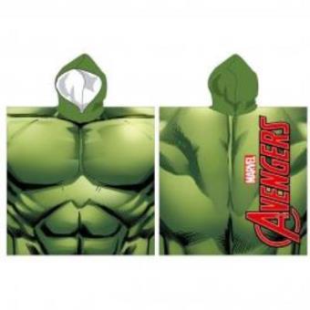 Toalha com Capuz Hulk Marvel Vingadores Microfibra