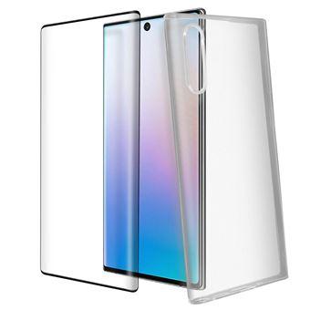 Estrutura Traseira e Vidro Temperado Transparente Avizar para Samsung Galaxy Note 10