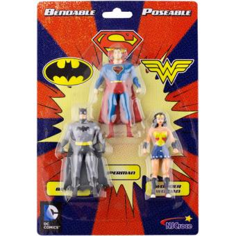 Figuras NJ Croce DC Comics Batman, Superman, Wonder Woman Mini 3-Pack