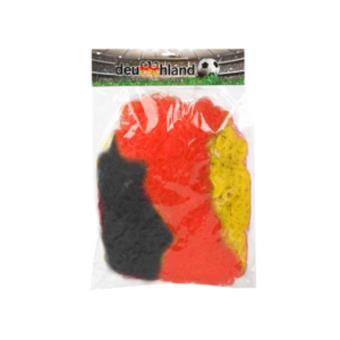 Acessório Disfarce Atosa Palhaço Peruca da Bandeira de Alemanha