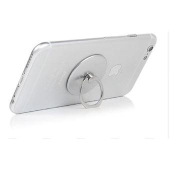 Suporte Smartphone Anel Ozzzo Prateado para Samsung S5560 Player 5 / Marvel