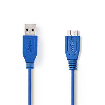 Nedis CCGP61500BU20 cabo USB 2 m 3.0 (3.1 Gen 1) USB-A Micro-USB B Azul