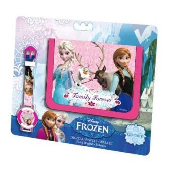 Conjunto de Carteira + Relógio Digital Disney Frozen O Reino do Gelo