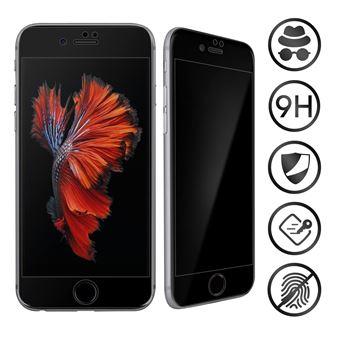 Vidro Temperado Avizar para iPhone 6 Plus e 6S Plus | para Anti-Spy | 9H | Chanfrado | Moldura Preta