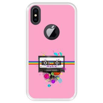Capa Tpu Hapdey para Iphone X - Xs | Design Fita de Áudio | Estilo Retrô - Transparente