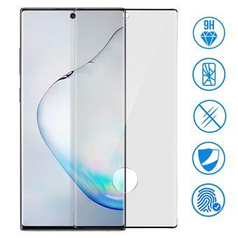 Vidro Temperado Avizar para Samsung Galaxy Note 10 Bordas Pretas