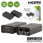 Receptor e Transmissor Konig HDmi Via Rj45 Cat5/6 30M