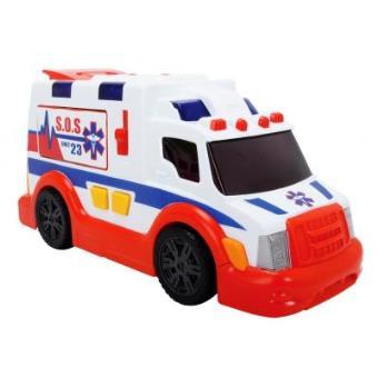 Ambulância Dickie Toys Azul e Vermelho e Branco