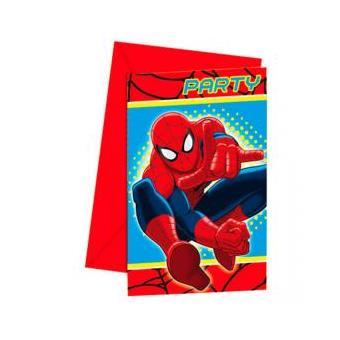 Conjunto 6 Convites Festa Homem Aranha Marvel Ultimate