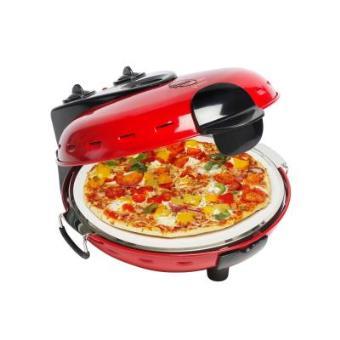 Panela elétrica de pizza Bestron DLD9070  - Preto, Vermelho