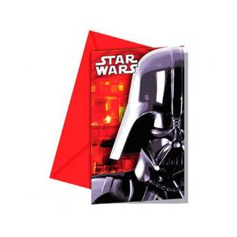 Conjunto 6 Convites Festa Star Wars Disney Classic
